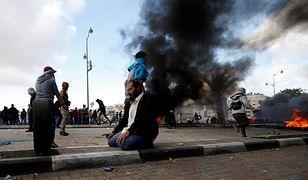 Protesty Palestyńczyków przeciw decyzji Donalda Trumpa