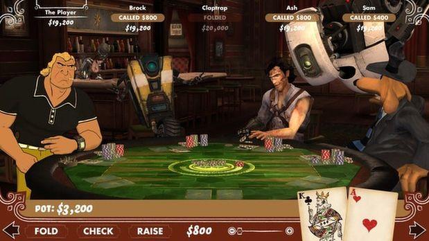 Ash, Claptrap i Sam siadają do stołu, by zagrać w pokera [Poker Night 2]