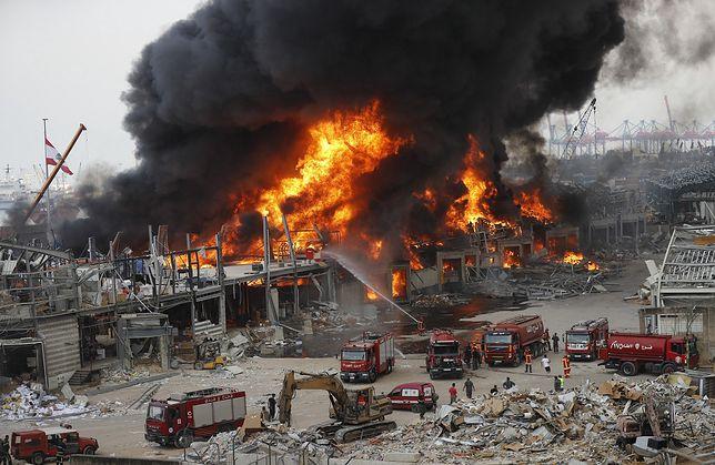 Bejrut. Płonie skład ropy naftowej