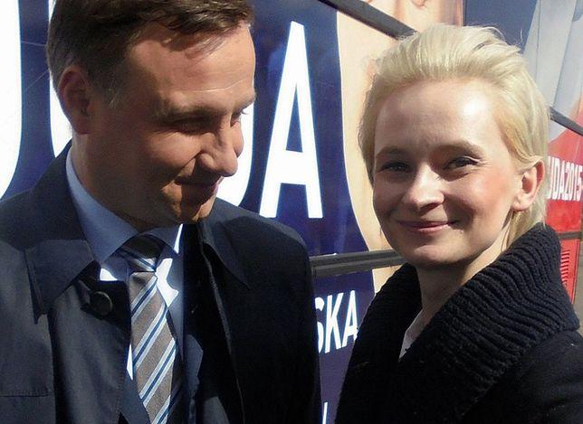 Izabela Pek na zdjęciu z Andrzejem Dudą