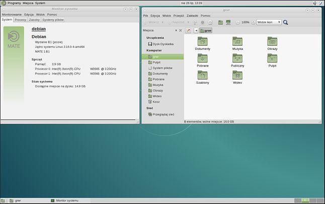 Czcionki domyślne w Debianie (Sans, Monospace)
