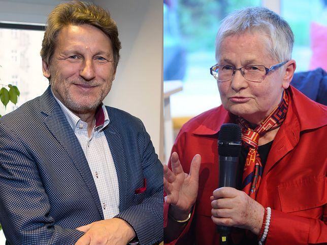 Zbigniew Janas i Barbara Labuda