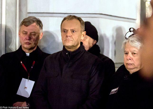 Donald Tusk wziął udział w wiecu przeciwko nienawiści zorganizowanym po śmierci Pawła Adamowicza