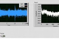 Labview: Karta dźwiękowa jako źródło danych - Front Panel