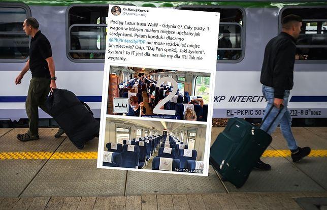Dystans społeczny w pociągach PKP Intercity trudno zachowań.