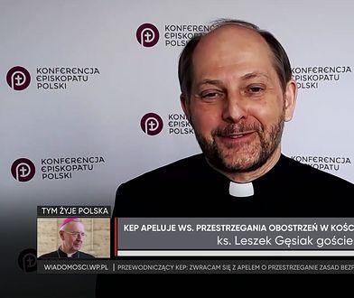 Ks. Leszek Gęsiak: spowiedź przed świętami tylko w sposób tradycyjny
