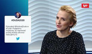 Joanna Scheuring-Wielgus o Andrzeju Dudzie: jest w totalnej pułapce