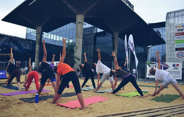 Crossfit, joga i sztuki walki na plaży w samym centrum Katowic