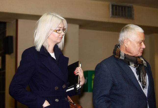 Martyna Wojciechowska z NBP, stale obecna u boku prezesa Adama Glapińskiego.