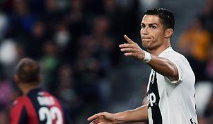 Cristiano Ronaldo podczas jednego z meczów włoskiej Serie A