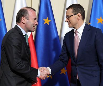 Manfred Weber i Mateusz Morawiecki spotkali się w Warszawie. Niemiec jest szefem największej europarlamentarnej frakcji