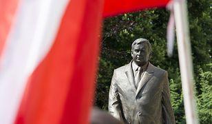 Odsłonięcie pomnika prezydenta Lecha Kaczyńskiego w Szczecinie