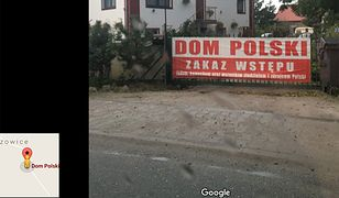 Transparent znajdował się na bramie wjazdowej do firmy, która oferuje noclegi koło Wrocławia.