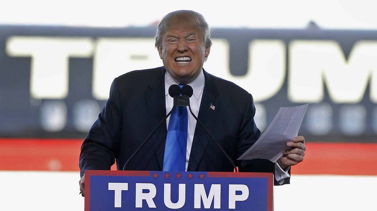 Donald Trump w 2016 r.
