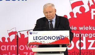 Wybory parlamentarne 2019. Jarosław Kaczyński na konwencji PiS w Legionowie