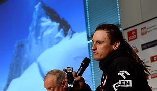 Adam Bielecki podczas konferencji prasowej