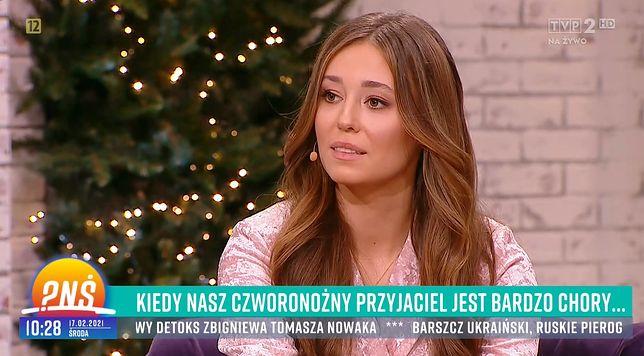 """Izabella Krzan zadebiutowała w roli prowadzącej """"Pytania na śniadanie""""."""