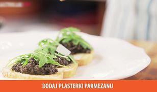 Bruschetta z tapenadą. Mariaż kuchni włoskiej i hiszpańskiej