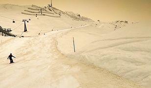 Żółty śnieg w górach. Pył znad Sahary dotarł do Polski