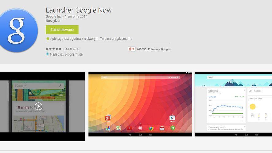 Launcher Google Now dostępny dla wszystkich z Androidem 4.1 i nowszym