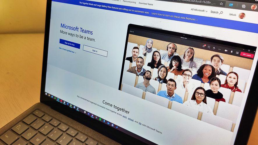Microsoft Teams w wersji osobistej już na przeglądarkach, fot. wp.pl/Jakub Krawczyński