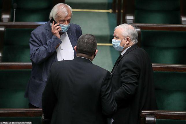 Wicepremier ds. bezpieczeństwa państwa Jarosław Kaczyński w Sejmie