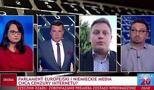 W programie TVP Info dyskutowano o możliwej cenzurze internetu