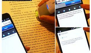 Skaner tekstu i tłumacz w mobilnym długopisie