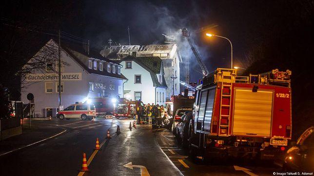 Pożar domu w niemieckim Lambrecht