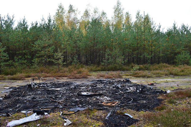 W lesie cykliczne podpalane są części od aut / Autor - R.Tomczak