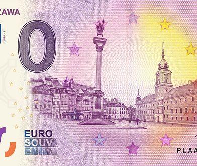 Polskie euro. Powstał kolekcjonerski banknot ukazujący Warszawę. Ma nominał 0 euro