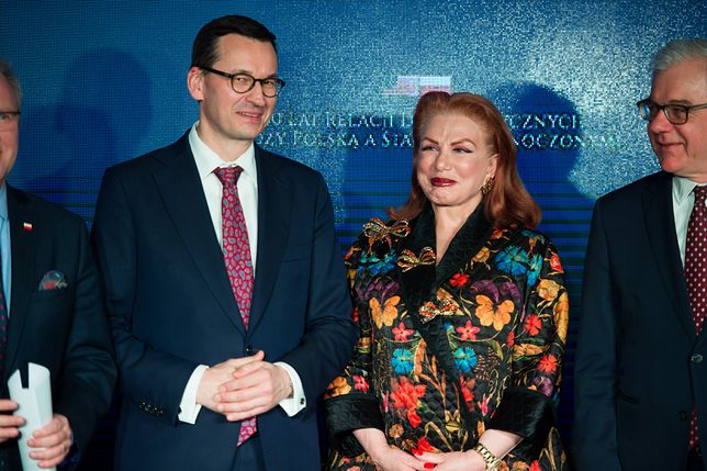 Premier Mateusz Morawiecki oraz ambasador USA w Polsce Georgette Mosbacher (zdj. arch.)