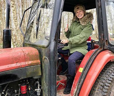 Edyta Pazura na swój traktor mówi lamborghini