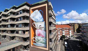 Mural Holenderskiego artysty w mieście Helsingborg