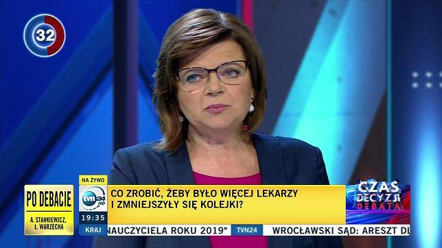 Wybory parlamentarne 2019. Izabela Leszczyna jedyną kobietą podczas debaty TVN24