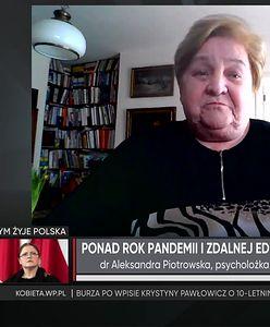 Dr A. Piotrowska o problemach dzieci i młodzieży