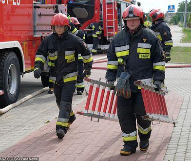 Poznań. Na miejscu pracowało 6 zastępów straży pożarnej.
