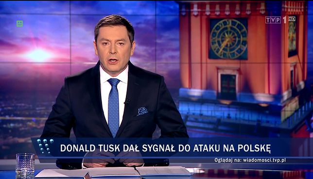 "Kolejny materiał ""Wiadomości"" TVP o wpisie Donalda Tuska"