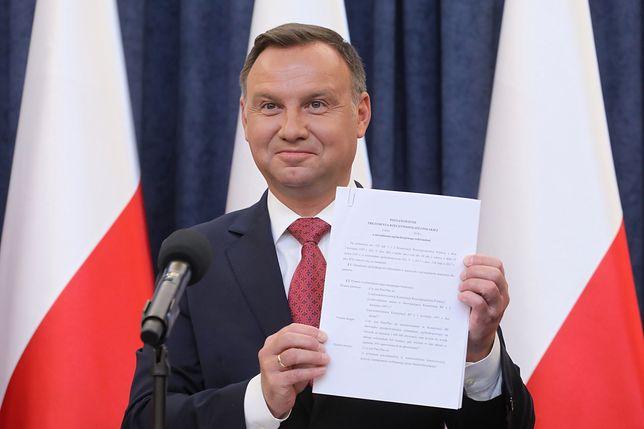 Andrzej Duda ogłosił 10 pytań referendalnych