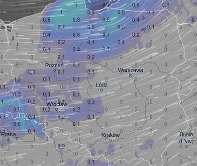 Tak będzie wyglądać piątkowa mapa opadów