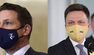 Hołownia i Trzaskowski mają powód do dumy. Razem na czele sondażu