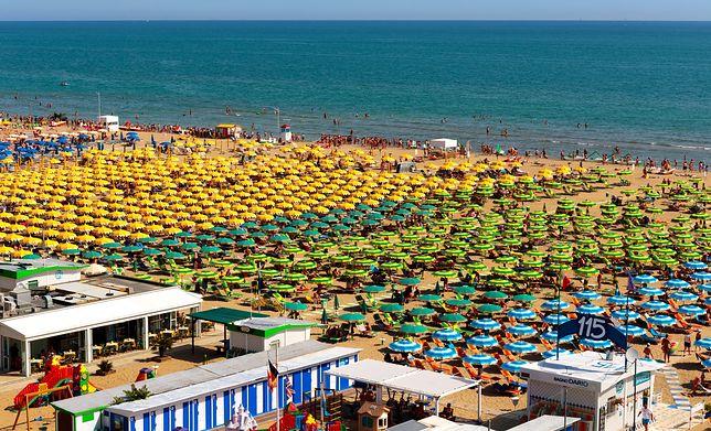 Jedna z plaż w Rimini