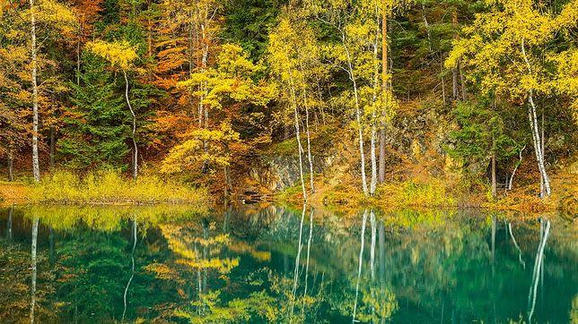 Kolorowe jeziorka w Sudetach