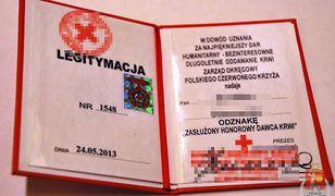 Handlowali legitymacjami honorowego dawcy krwi!