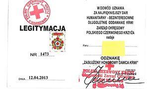 Używali fałszywych legitymacji Honorowych Dawców Krwi!