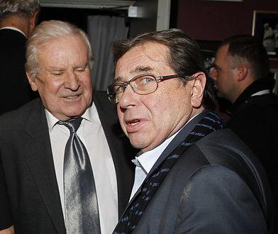 Wiesław Gołas i Janusz Gajos, grudzień 2011, benefis Jana Kobuszewskiego