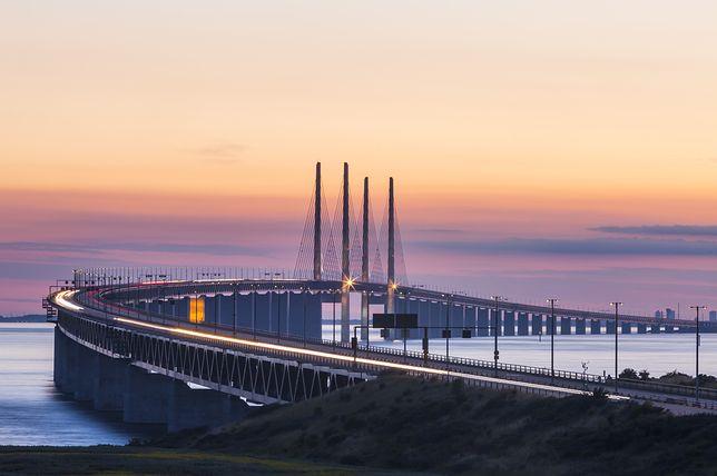 Na zdjęciu most Öresund, łączący Szwecję z Danią