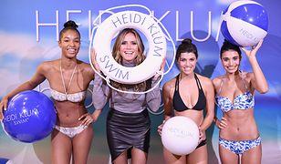 Heidi Klum na premierze swojej linii kostiumów kąpielowych