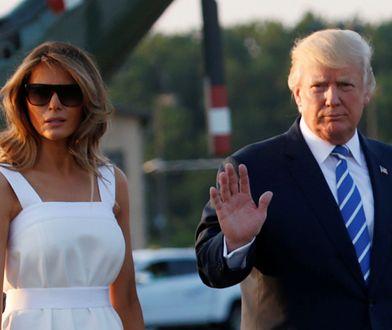 Melania Trump już po urlopie. W tej sukience nie mogła przejść niezauważona