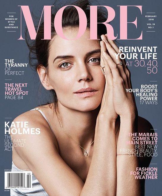 "Naturalna Katie Holmes w ""More Magazine"""